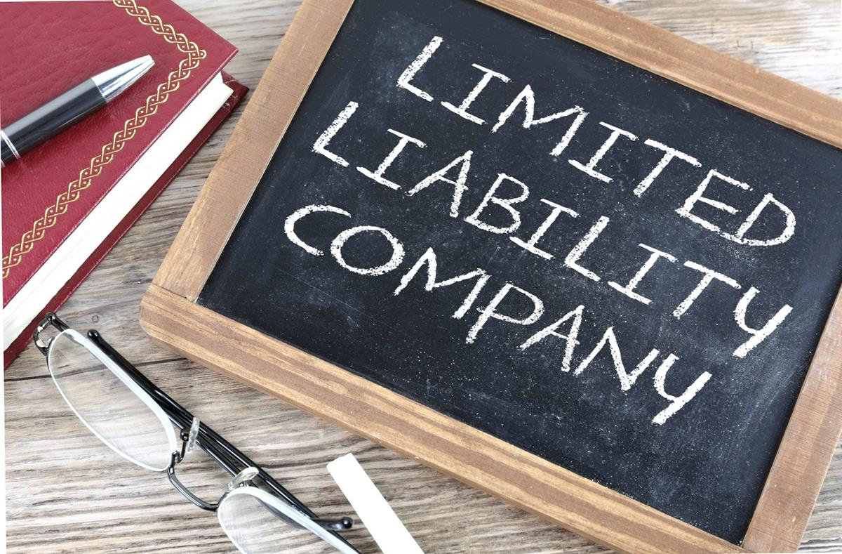 limited liability company note on the blackboard